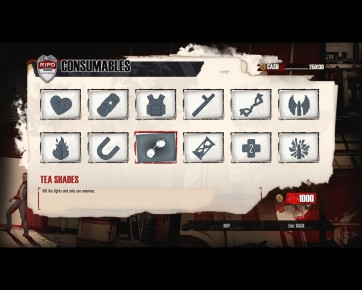 Consumables(menu)