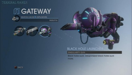 sr2 gun black hole - photo #5