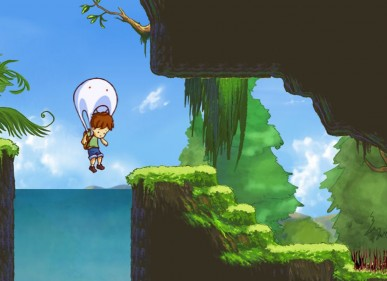 A Boy and His Blob is a remake of an NES classic and it is stunningly beautiful and fun