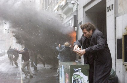 Critically acclaimed, Children of Men featured depictions of terrorism and violent uprisings but received no negative media attention despite its mature themes