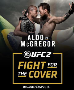 JOSE ALDO AND CONOR MCGREGOR FIGHT FOR THE COVER AT UFC 194