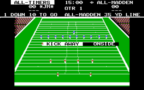 John Madden Football Circa 1988